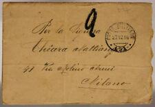 POSTA MILITARE 150 BUSTA + SEGNATASSE 106^ TELEGRAFISTI  27.2.1918 #XP486E