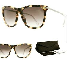 Gucci GG 3778/S Women Sunglasses HRT YLLWHAVANA Square Cat Eye silver Bamboo