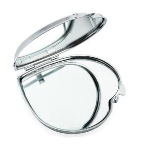 Silver Heart Design Compact Pocket Mirror Folding Handbag Makeup Cosmetic Gift