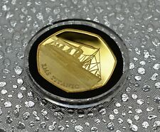 RMS TITANIC 24ct Gold Commemorative in Capsule. Ocean Liner, White Star, Olympic