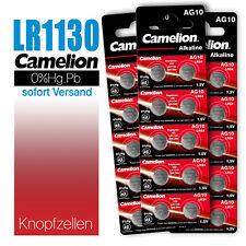Camelion LR1130 Knopfzelle LR54 AG10 L1131 189 V10GA 389 390 MHD 10.2026