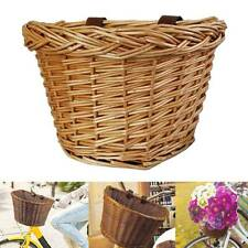 Container Basket Storage Holder Front Handlebar Wicker Bike Bicycle Hot AU