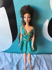 Disney Hercules Megara Barbie Doll In Teal Greek Dress NEEDS TLC