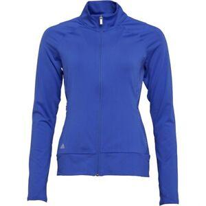 adidas Ladies Golf Rangewear Full Zip Layering Top - Blue - XL - BNWT