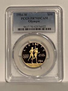 1984-W $10 Olympic Gold Commemorative PCGS PR70DCAM
