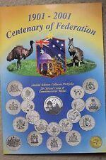 Australian 2001 Federation Set 20 coins Includes Special Medallion UNC (DAN31/C7
