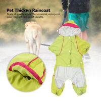 Waterproof Dog Hooded Raincoat Coat Pet Hooded Jacket Puppy Clothes Thicken