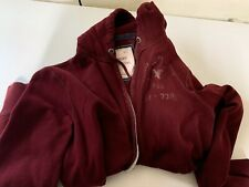 American Eagle Outfitters Zip Up Maroon Hoodie Heavy Mens Size M