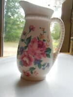 Vintage Royal Copley Small Pitcher Floral Rose Design China Pottery 6'' Cream