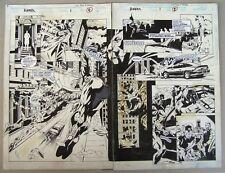 Original Spiderman Comic Art: Two Page Spread.  Annex #1, Marvel, 1994