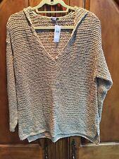 J. Jill Women's Khaki Hooded Pullover Size L NWT