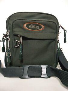 MENS WOMENS SALISBURY GREEN FABRIC FLIGHT BAG HAND LUGGAGE TRAVEL SHOULDER BAG