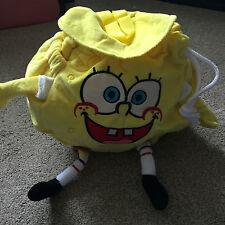 SPONGEBOB SQUARE PANTS 3D HANDS & FEET BACK PACK BAG ADJUSTABLE STRAPS