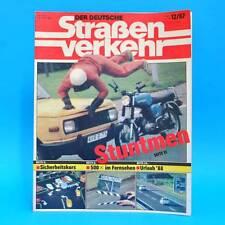 Der Deutsche Straßenverkehr 12/1987 Stuntmen Saporoshez Verkehrsmagazin Reisen G