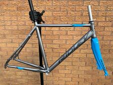 Ridley X-Bow Disc Cyclocross / Gravel Alloy Frame Carbon Fork QR Silver Blue PMC