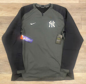 NWT! Mens Nike Therma Authentic Collection New York Yankees Thermal Crew M $90!