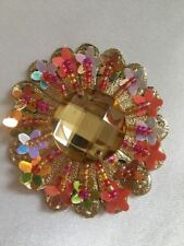 MULTI beaded HOLOGRAM style Rhinestone Applique,Motif,,sequins 1X(5.7 cm Approx)