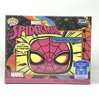 New Sealed Funko Pop! and Tee Marvel Spider-Man #652 Black Light! Size: M