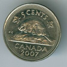 CANADA  -  2007  CANADIAN  5 CENTS COIN MONEY