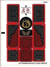 LEGO 9448 - Ninjago - Samurai Mech - STICKER SHEET