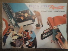 PLYMOUTH SUBURBAN STATION WAGONS original 1957 1958 USA Mkt Sales Brochure