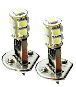 H1 LED 9 SMDs White Direct Replacement Light Bulbs Fit High Beam Fog Light D603
