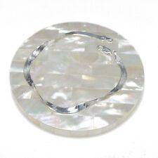 "Herring Bone Chain Link Bracelet lentgh 7"" width 3.7mm - Sterling Silver .925"