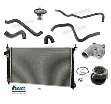 SAAB 9-5 2.3l Radiator Upper Lower and Water Pump Hoses Thermostat - Coolant Kit
