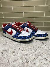 Nike 6.0 Dunk Low Sz 10 2007 Stars Red White Blue Vintage 314142-163 *RARE*