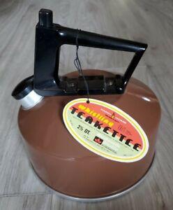 NEW Vintage WOOLWORTH Teapot Tea Kettle Whistle 2 1/2 Quart Aluminum USA Unused