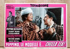 PEPPINO, LE MODELLE E CHELLA LLà fotobusta poster Bramieri Fulvia Franco BB15
