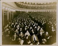GA6 Early 1900s Original Underwood Photo AUDIENCE WAITING Packed Theatre Crowd