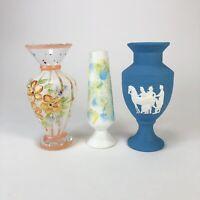 Lot of 3 vintage bud vases