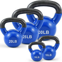 10, 15, 20, 25, 30 lb Choose Weight Kettlebell Solid Iron Cast Iron Kettlebell