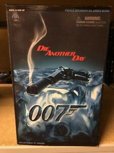 "Boxed JAMES BOND 007 Pierce Brosnan 12"" Figure SIDESHOW Die Another Day"