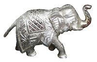 Elephant Statue Metal Lucky Animal Figurine Feng Shui Figure Gift Table Decor B3