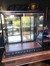 More details for victorian frys display cabinet antique collectible