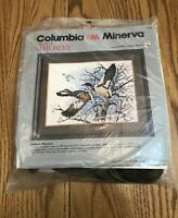 New Columbia Minerva Crewel Stitchery Kit #7738 AUTUMN MIGRATION Mallard Ducks