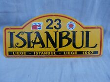 Liege-Istanbul-Liege rally 1997 rally plate car 23