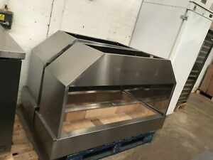 Coal-Fired Range Hood Grill Stainless Steel 120cm Mangal BBQ RESTAURANT