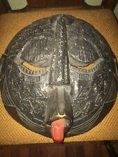 African Mid evil Metal Face Mask Rare Ornate Hand Carved.