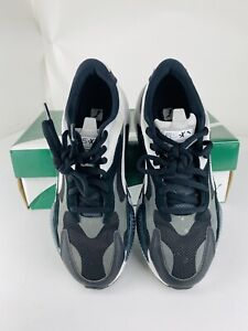 Size 9 - Puma RS-X3 Puzzle - Black White & Gray 371570-13 Adult Shoes With Box