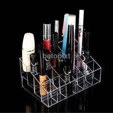 24 Grid Lipstick Holder Clear Makeup Brush Cosmetic Jewelry Storage Organizer FA