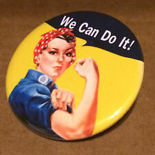 """Rosie the Riveter 2.25"""" PINBACK BUTTON equal rights girl power we can do it"""