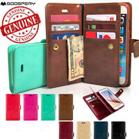 Double Flip book Leather Wallet Case Cover for iPhone XS MAX XR/Galaxy S10 Note9
