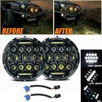 2PC DOT 7 inch Round LED Headlights Halo Fit For Porsche 911 912 914 924 928 944