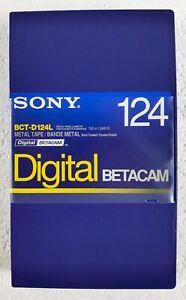 SONY Digital BETACAM BCT-D124L LARGE METAL VIDEO CASSETTE TAPE