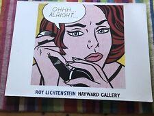 Roy Lichtenstein Oh Alright Artwork From Hayward Gallery 2004 Mounted On Canvas