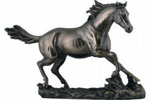 Horse Cantering On The Grassland (Cold Cast Bronze Statue 22cm / 8.6nches)