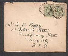 England 1908 cover Southampton to W H Bagley Jersey City Nj